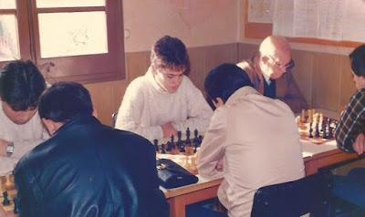 Encuentro de ajedrez C.C. Sant Andreu - Rubinenca, 26 de octubre de 1986