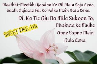 Good Night Shayari, Hindi Shayari images