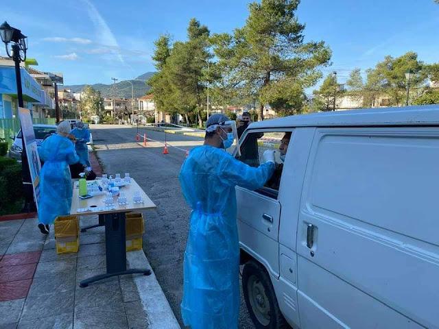 Ολοκληρώθηκε η διενέργεια από την ΚΟΜΥ του ΕΟΔΥ, των δωρεάν Rapid Test μέσα από το αυτοκίνητο στον Λούρο Πρέβεζας.