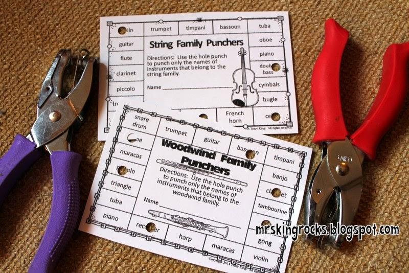 http://www.teacherspayteachers.com/Product/Misspelled-Instruments-Punch-Cards-1263924