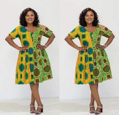 Latest Ankara short gown styles from Nana aka mc brown gallery