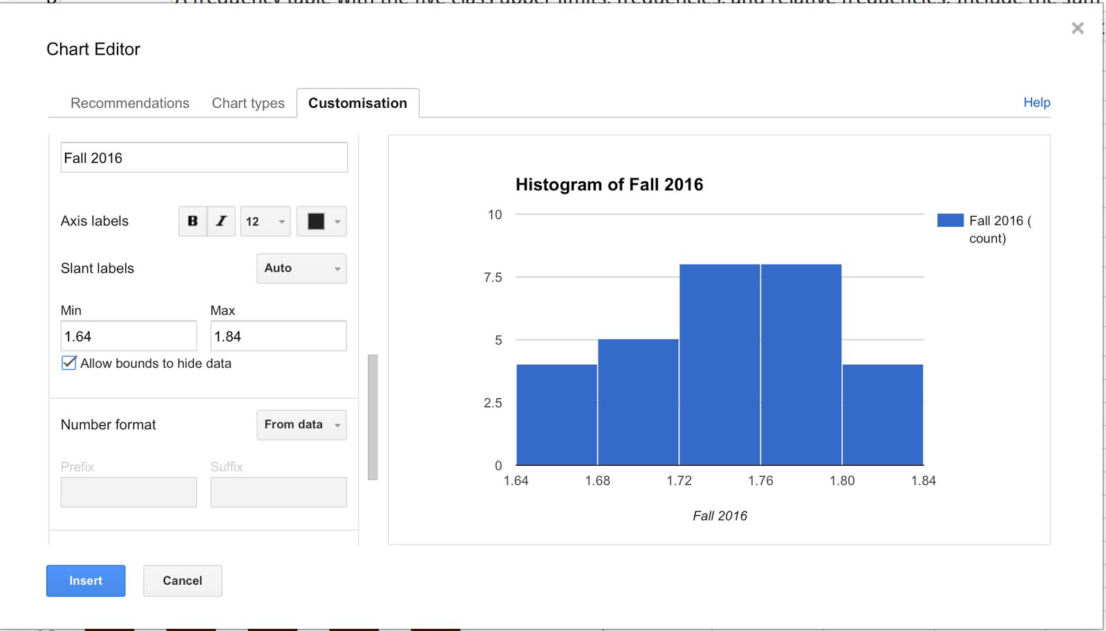 Creating Histograms With Sheets