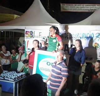 Atleta de Baraúna é Campeã na Corrida de Emancipação de Nova Floresta