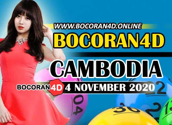 Bocoran 4D Cambodia 4 November 2020