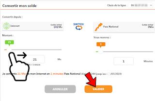 خدمة Switch اتصالات المغرب