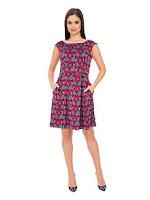 Rochie mini, cu imprimeu floral, decupata la spate (Closet)