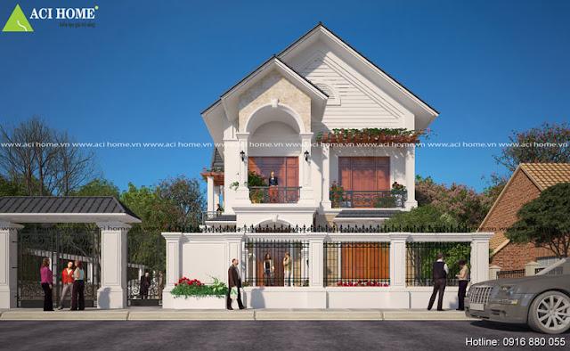 Mẫu kiến trúc biệt thự đẹp tại Hà Nội