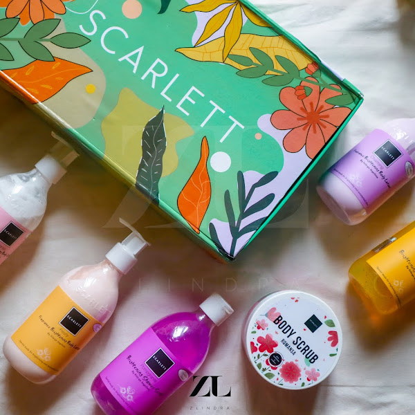 Review Jujur Body Care Viral! Scarlett Whitening Body Care Series (Shower Scrub, Body Scrub, Body Lotion)