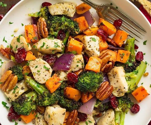 Sweet Potato Broccoli Chicken Bake #paleo #glutenfree
