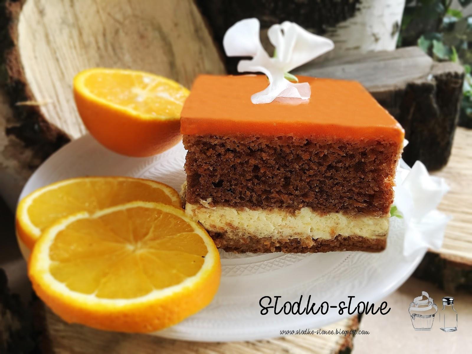 Torcik marchewkowy z kremem pomarańczowym