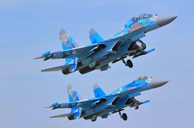 Dua Su-27 Rusia