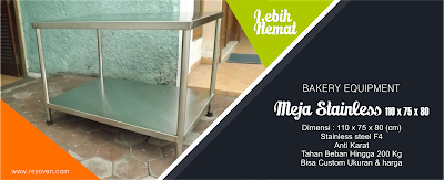 Meja Stainless Steel bakery by reyoven.com