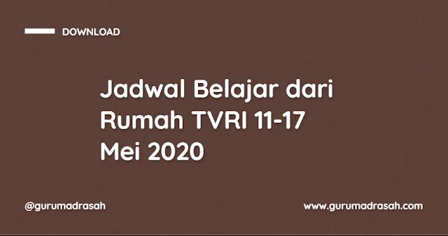 Jadwal Belajar Dari Rumah TVRI Tanggal 11-17 Mei 2020