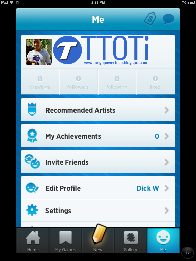 Draw Something 2 profile page