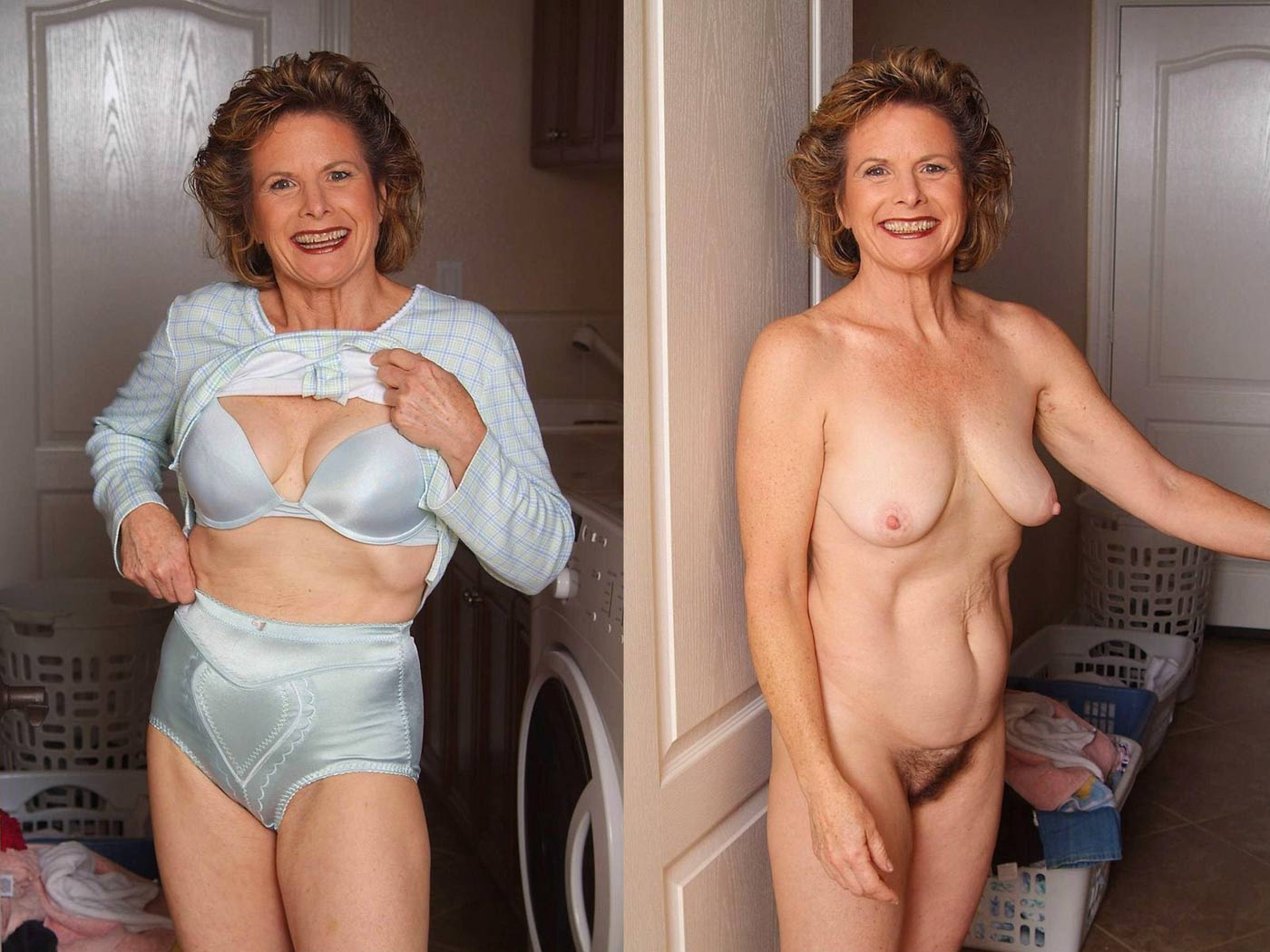 Opinion the Hairy nude milf before and after long