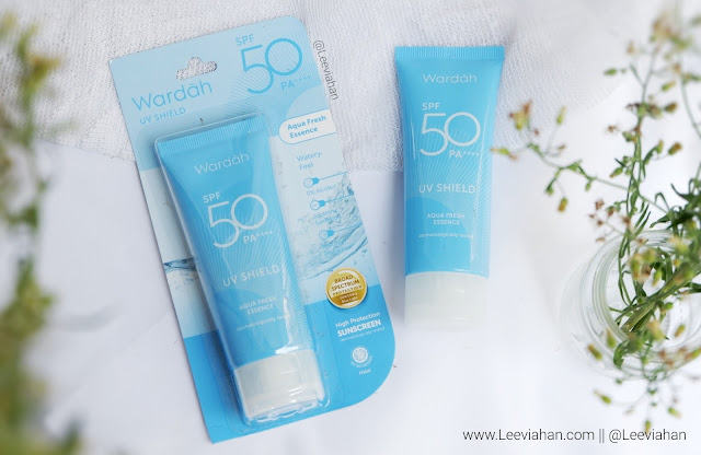 Wardah UV Shield Aqua Fresh Essence SPF 50 Review, Sunscreen lokal, Sunscreen Wardah, Skincare lokal, skincare wardah, skincare, sunscreen murah