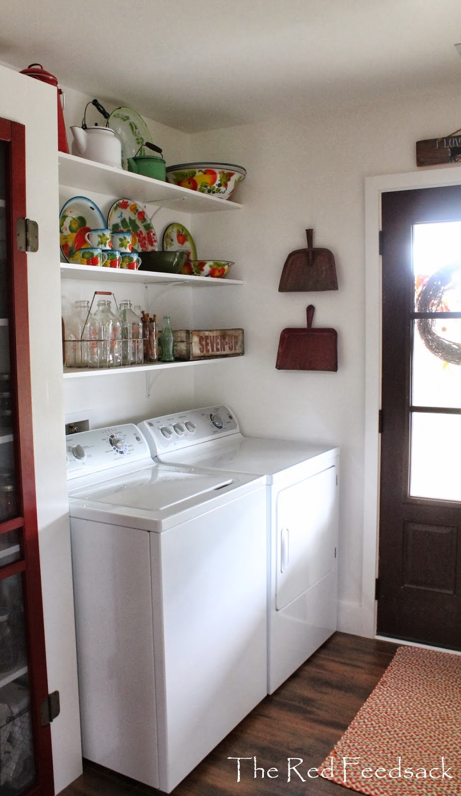 Top The Red Feedsack: My Laundry Room Is Company Ready! GL31