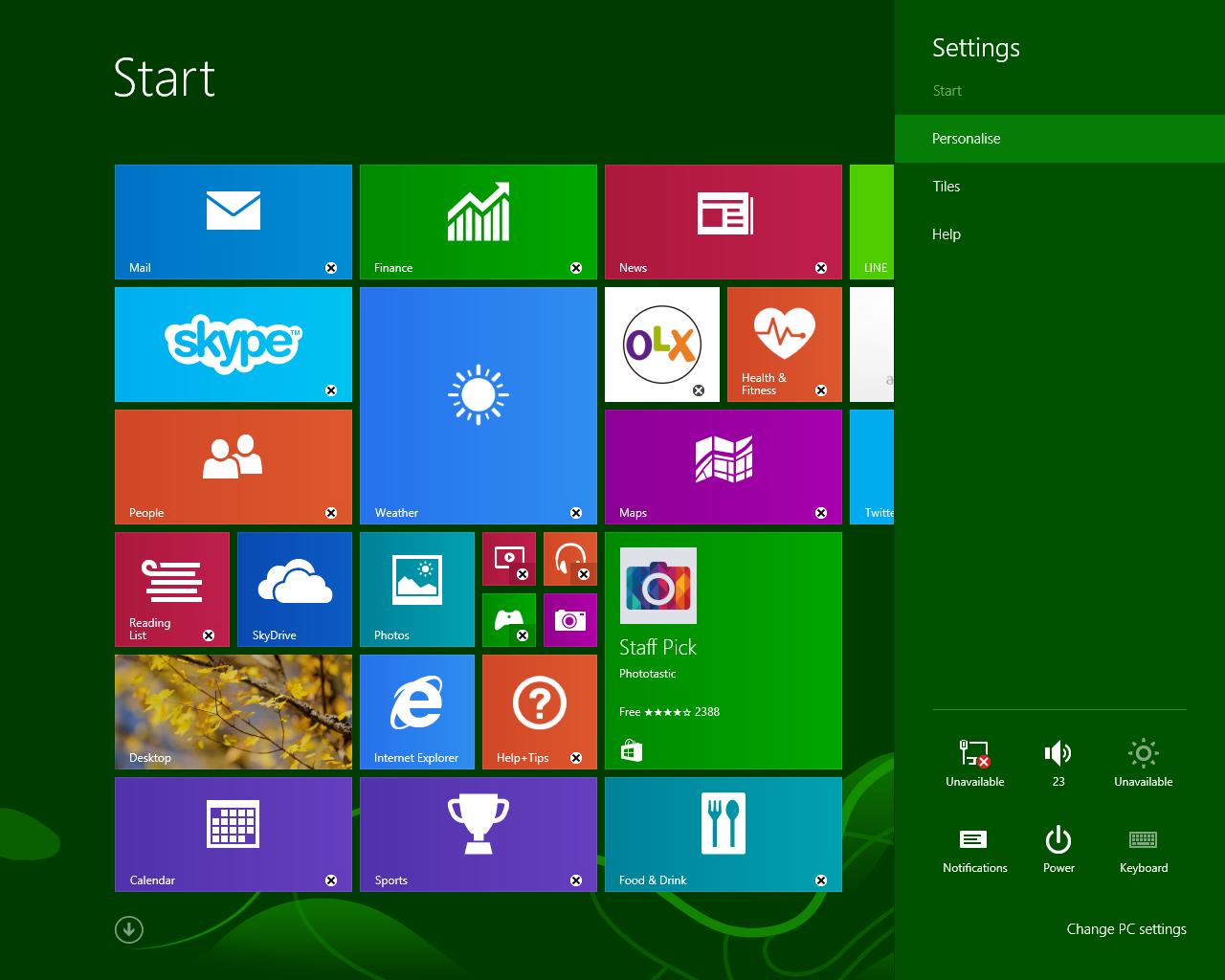 Mengubah Latar Start Screen Windows 88.1 Seperti Desktop background (Wallpaper)