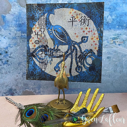 Printmaking with Stencils - Mixed Media Project - Gwen Lafleur