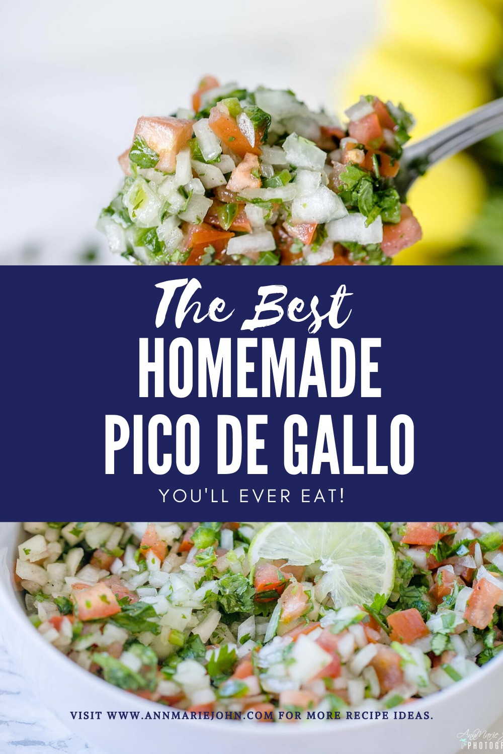 Homemade Pico de Gallo Pinterest Image