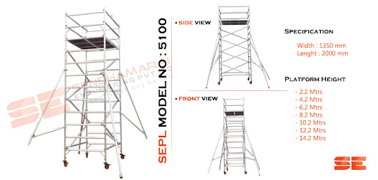 Aluminium Scaffolding For Safety Working On Industrial Area