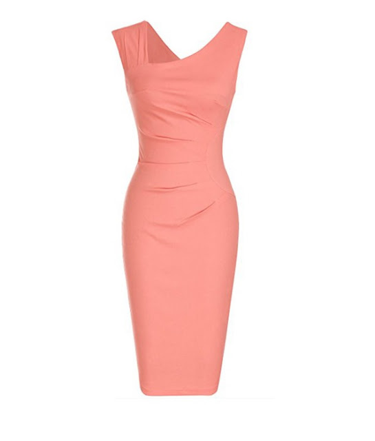 bodycon dress living coral