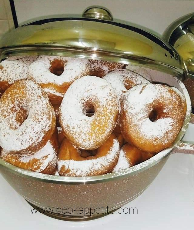 Donut Recipe - Icing Sugar Sprinkled Donuts