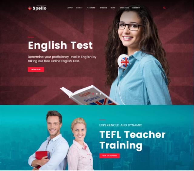 Spello - Tema Wordpress untuk Sekolah Minimalis