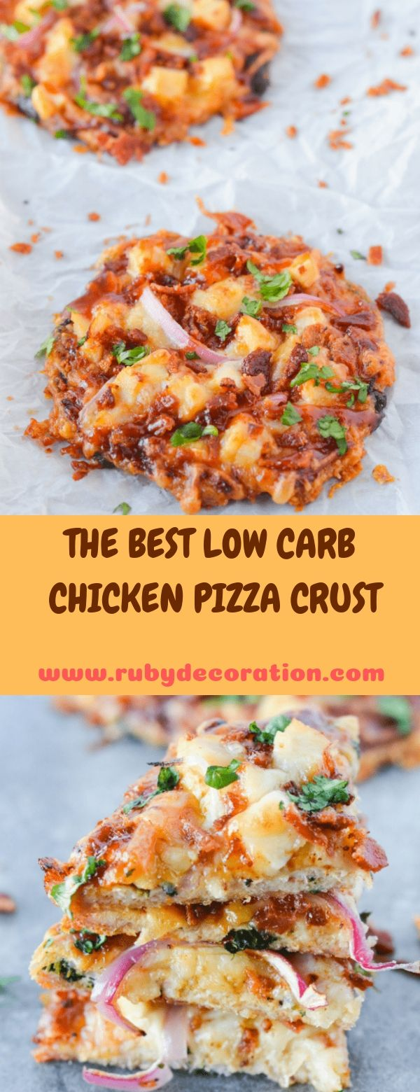 THE BEST LOW CARB CHICKEN PIZZA CRUST
