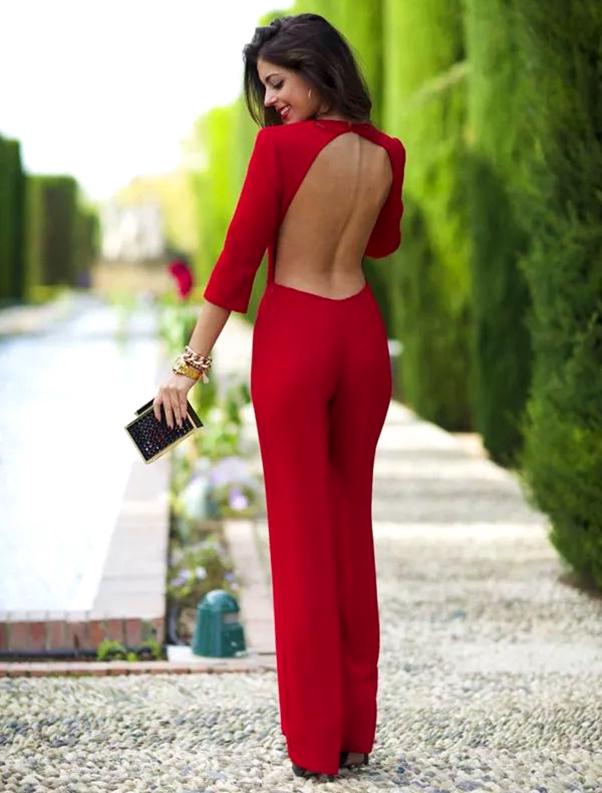 Os Melhores Looks para Usar no Natal macacão vermelho