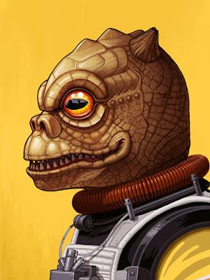 Star Wars Bossk Portrait Giclee Print by Mike Mitchell x Mondo