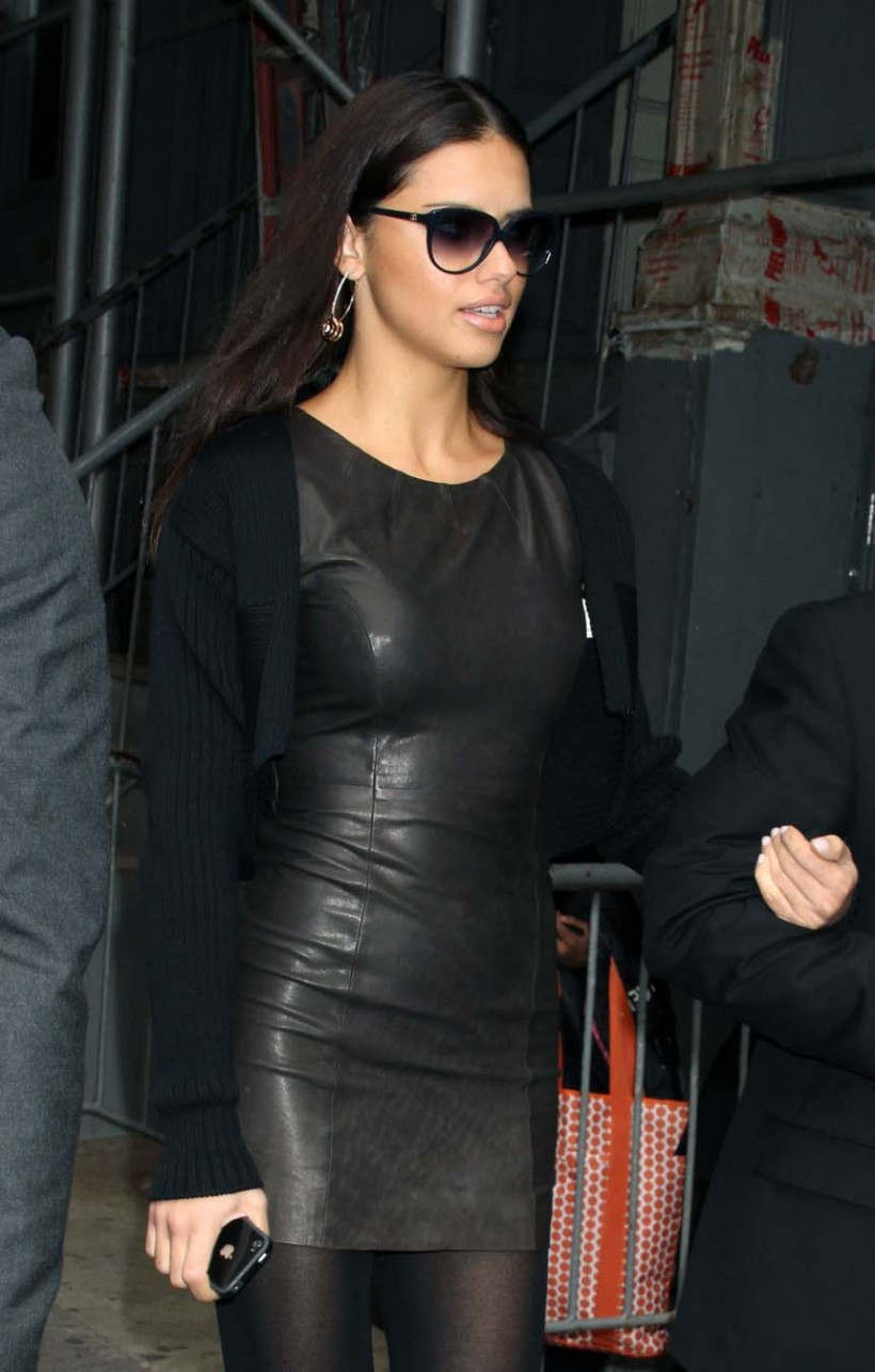 Leather Leather Leather Blog Adriana Lima Leather Dress Hq