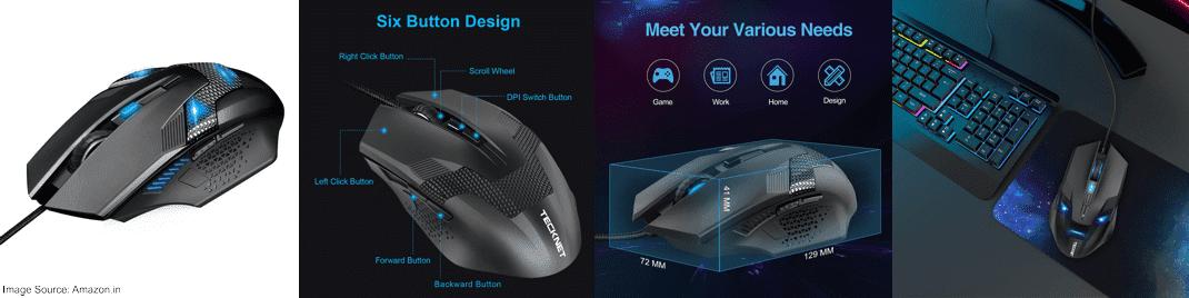 TeckNet Raptor M268 Gaming Mouse (3200 DPI)