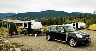 tiny teardrop trailer camping, Dillon, Colorado