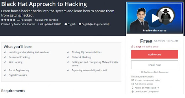 [100% Off] Black Hat Approach to Hacking  Worth 129,99$
