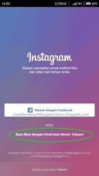 contoh email instagram