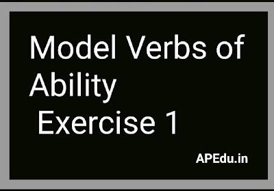 Model Verbs of Ability   Exercise 1