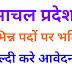 हिमाचल प्रदेश में पीजीटी, टीजीटी तथा अन्य पदों पर भर्ती