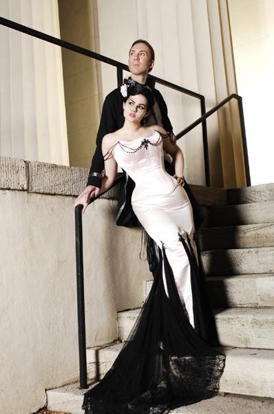 Accents Black Corset Dresses Wedding