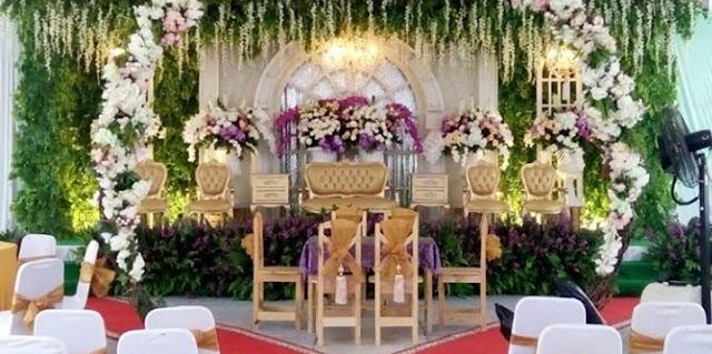 pelaminan + Gedung Pernikahan