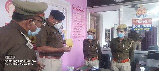 पुलिस अधीक्षक खीरी द्वारा कोतवाली गोला का किया गया वार्षिक निरीक्षण