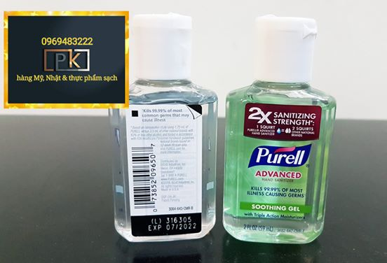 Gel rửa tay Purell, hàng Mỹ, Chai nhỏ 56 ml