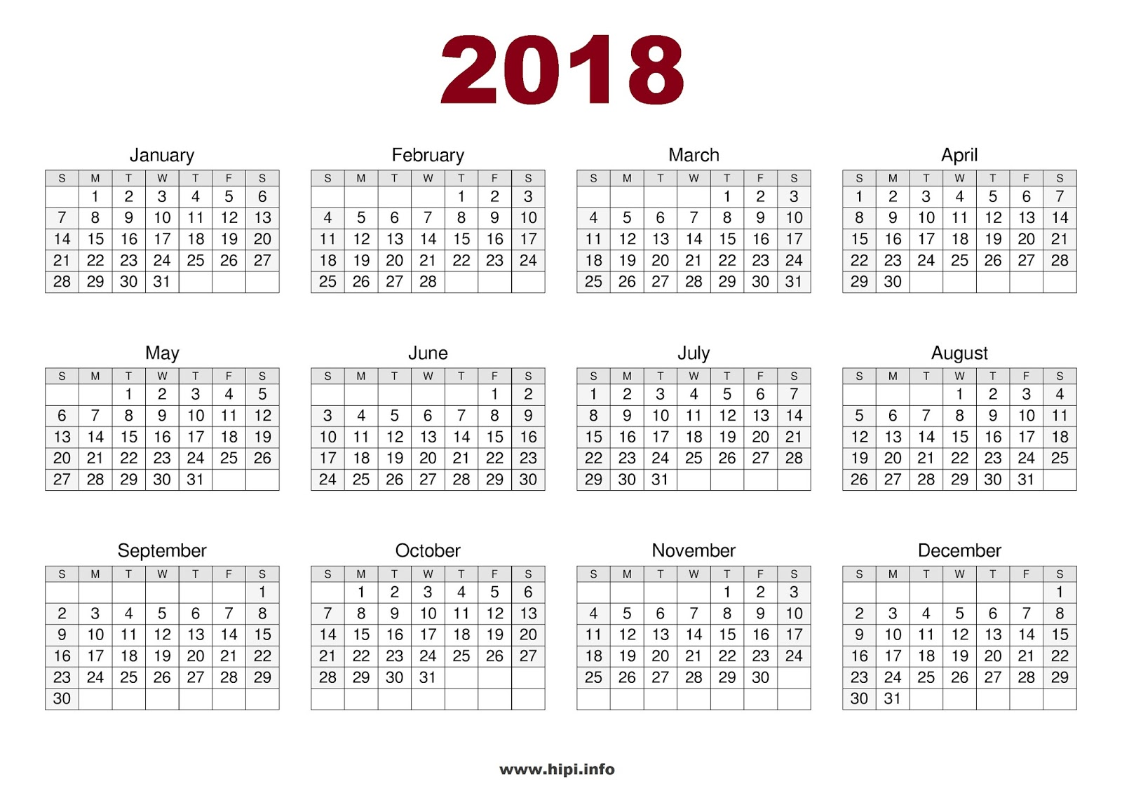 Twitter Headers / Facebook Covers / Wallpapers / Calendars: 2018