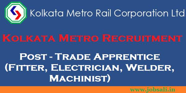 current railway jobs, apprentice job in kolkata metro railway, iti jobs in railway