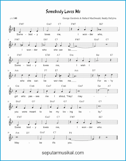 chord somebody loves me lagu jazz standar