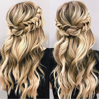 Half Up Half Down Hairstyle for Prom