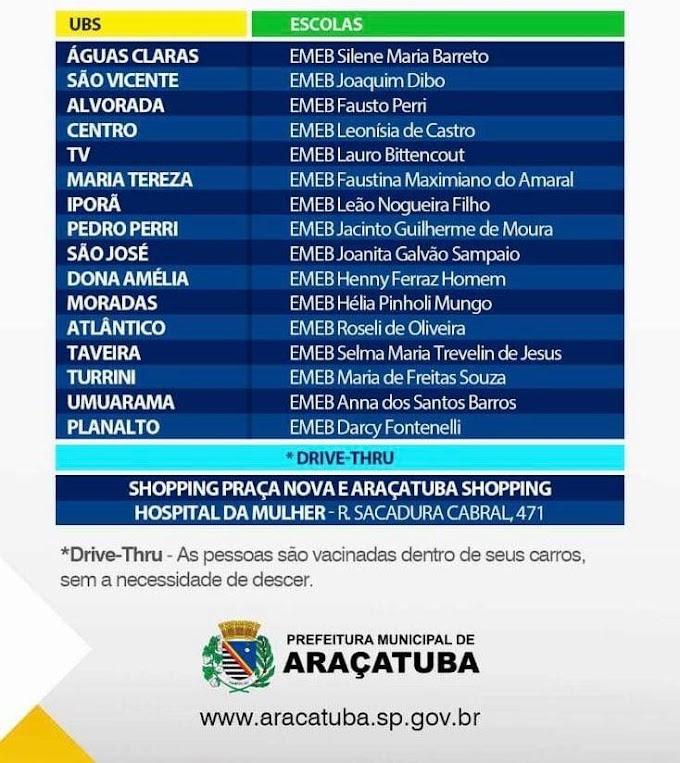 Vacinação contra a Gripe em Araçatuba