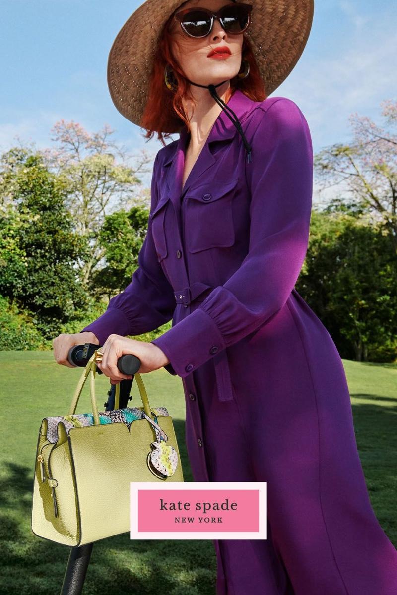 Karen Elson fronts Kate Spade spring-summer 2020 campaign