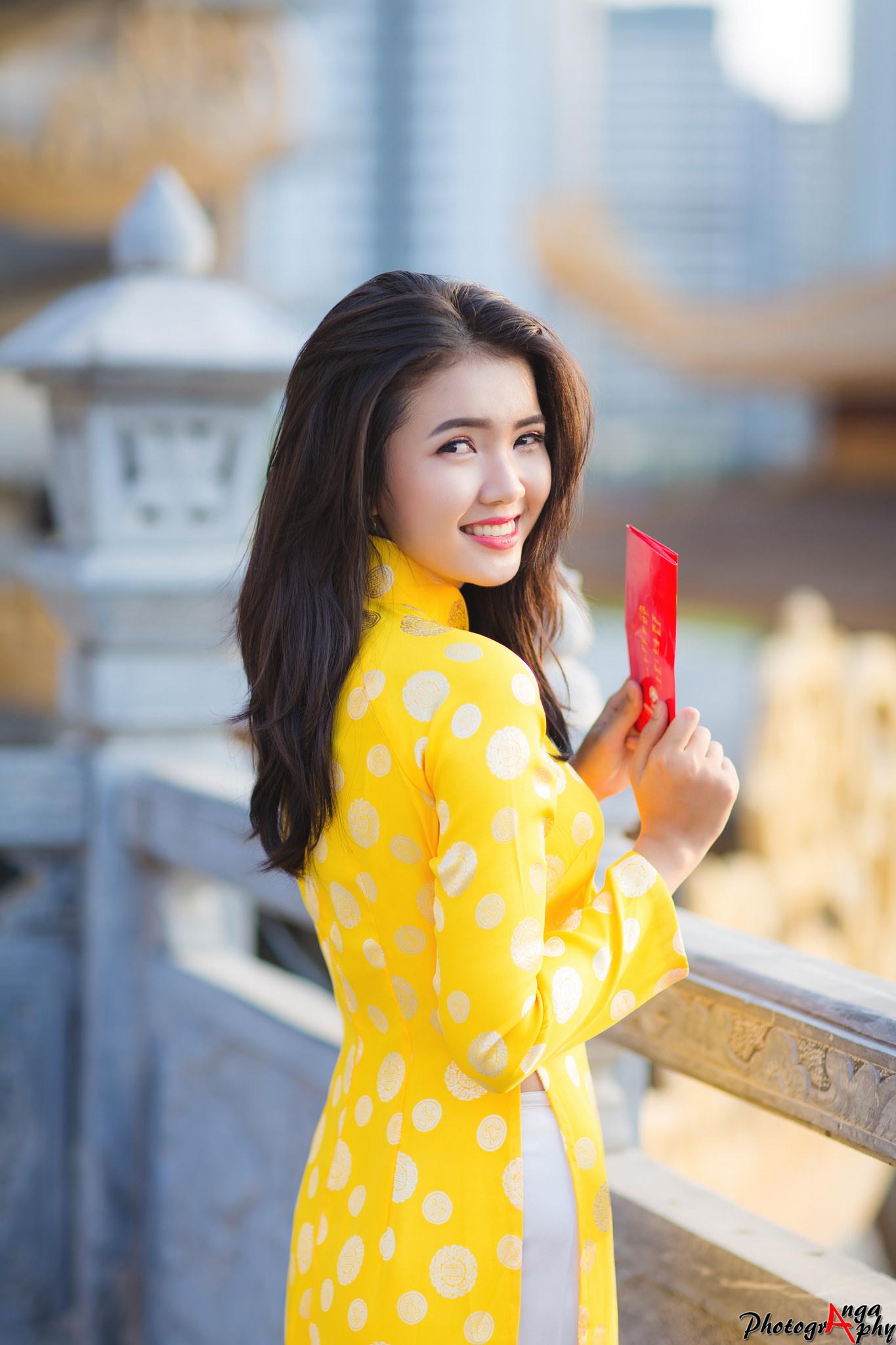 Tuyển tập girl xinh gái đẹp Việt Nam mặc áo dài đẹp mê hồn #60 - 16