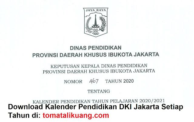 kalender pendidikan dki jakarta tahun pelajaran 2020/2021 tomatalikuang.com